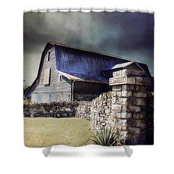 Empyrean Estate Stone Wall Shower Curtain