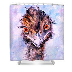 Emu Eyes Shower Curtain