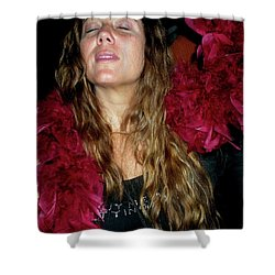 Emulating Janis Shower Curtain by Angela Murray