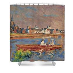 En Bateau De Renoir Sur La Meuse A Maestricht Shower Curtain