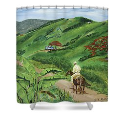En El Campo A Caballo Shower Curtain