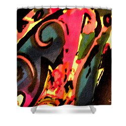 Shower Curtain featuring the mixed media En Joy by Sandi OReilly