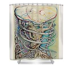 En L'air Par Terre Shower Curtain