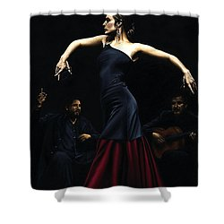 Encantado Por Flamenco Shower Curtain by Richard Young