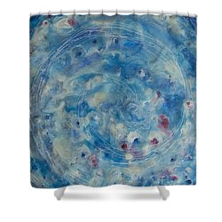 Shower Curtain featuring the painting Encaustic Galaxy by Jocelyn Friis
