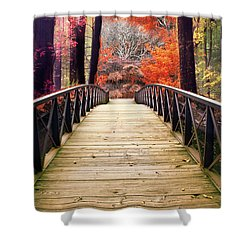 Shower Curtain featuring the photograph Enchanted Crossing by Jessica Jenney