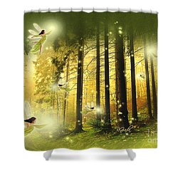Enchanted Forest - Fantasy Art By Giada Rossi Shower Curtain by Giada Rossi
