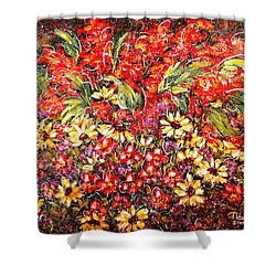 Enchanted Garden Shower Curtain by Natalie Holland