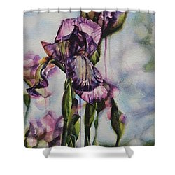 Enchanted Iris Garden Shower Curtain