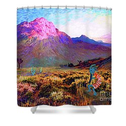 Enchanted Kokopelli Dawn Shower Curtain
