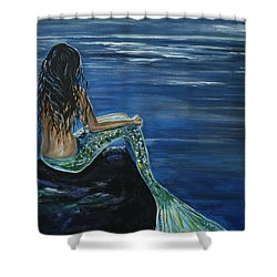 Enchanted Mermaid Shower Curtain by Leslie Allen
