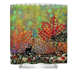 Enchanted Pathways Shower Curtain by Donna Blackhall