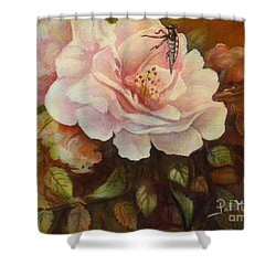 Shower Curtain featuring the painting Enchanted by Patricia Schneider Mitchell