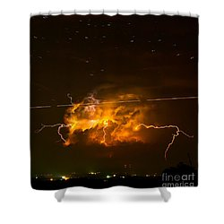 Enchanted Rock Lightning Shower Curtain