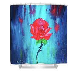 Shower Curtain featuring the painting Enchanted Rose  by Jennah Lenae