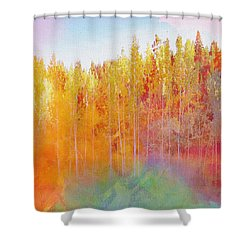 Shower Curtain featuring the digital art Enchanted Scenery #3 by Klara Acel