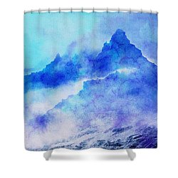 Shower Curtain featuring the digital art Enchanted Scenery #4 by Klara Acel