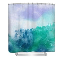 Shower Curtain featuring the photograph Enchanted Scenery by Klara Acel