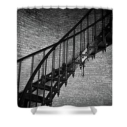 Shower Curtain featuring the photograph Enchanted Staircase II - Currituck Lighthouse by David Sutton