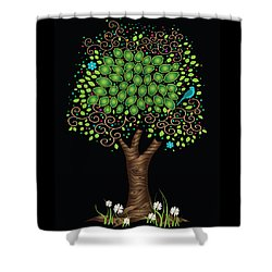 Enchanted Tree Shower Curtain by Serena King