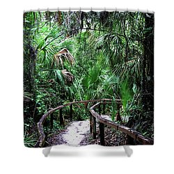 Shower Curtain featuring the photograph Enchanted Walk by Gary Wonning