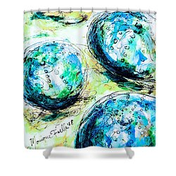 Enchanthing Sea Urchins Shower Curtain