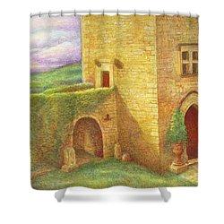 Enchanting Fairytale Chateau Landscape Shower Curtain