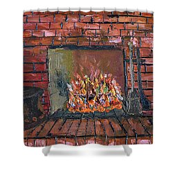 Enchanting Fire Shower Curtain