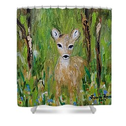 Shower Curtain featuring the painting Enchantment by Judith Rhue