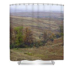 Enchantment Of The September Grasslands Shower Curtain