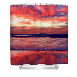 Encinitas Afterglow Shower Curtain