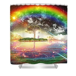 Encountering The Holy Spirit Shower Curtain by Dolores Develde