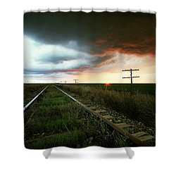 End Of A Stormy Day Shower Curtain
