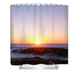 End Of Another Day Shower Curtain by Catherine Lau
