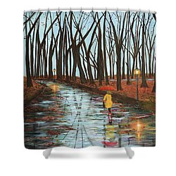 End Of Autumn Shower Curtain