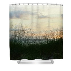Shower Curtain featuring the photograph End Of Day At Pentwater by Michelle Calkins