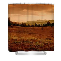 Shower Curtain featuring the photograph End Of Day by Frank Wilson