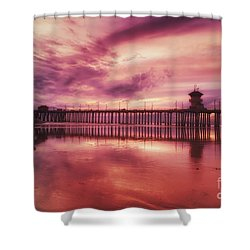 End Of Days At The Pier Shower Curtain