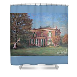 Shower Curtain featuring the painting End Of Summer by Nancy Lee Moran