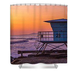 End Of Summer Shower Curtain by Peter Tellone