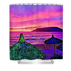 End Of The Beach Day In Mazatlan Shower Curtain