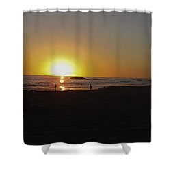 End Of The Day Shower Curtain by Charles Ables