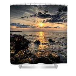 End Of The Day Shower Curtain by Everet Regal