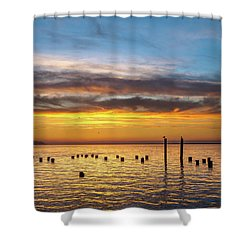 End Of The Day On Humboldt Bay Shower Curtain