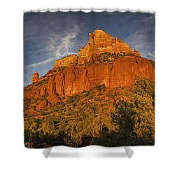 End Of The Day Pano Txt Shower Curtain