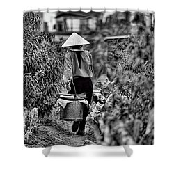 End Of The Day Vietnamese Woman  Shower Curtain