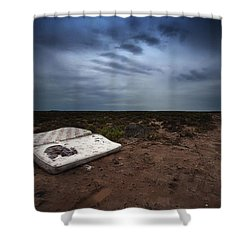 End Of The Earth Shower Curtain by Tim Nichols