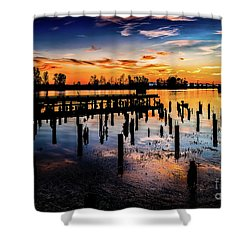 End Of The Fishing Day Shower Curtain