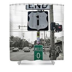 End Of The Road Baby Key West Shower Curtain