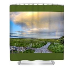 End Of The Road, Brora, Scotland Shower Curtain